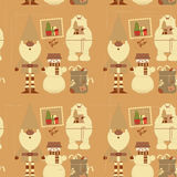 Christmas Decoration Pattern Stock Images