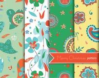 Christmas decoration patterns Stock Image