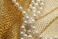 Christmas decoration pearl beads Stock Images