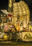 Christmas Decoration, Piazza San Pietro, Rome, Italy. Night scene christmas decoration at san pietro square, Rome, Italy stock photo