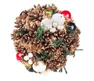 Christmas decoration with pine cones Royalty Free Stock Photography