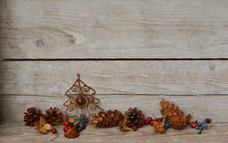 Christmas Decoration pine cones Stock Photography