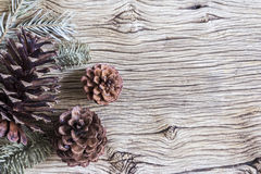 Christmas decoration of pine cones Stock Image
