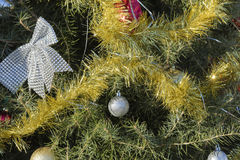 Christmas decoration on pine  tree Stock Images