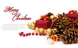Christmas decoration with pinecone Stock Image