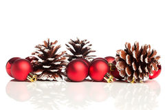 Christmas decoration with pinecone Royalty Free Stock Photography