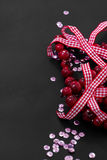 Christmas decoration and pink sequins Royalty Free Stock Photography