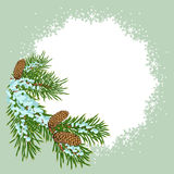 The christmas decoration placard stock illustration