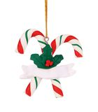 Christmas decoration plastic lollipop cane. Stock Photo