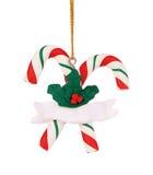 Christmas decoration plastic lollipop cane. Stock Photo