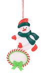 Christmas decoration plastic snowman. Royalty Free Stock Photo
