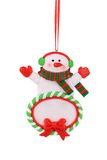 Christmas decoration plastic snowman. Royalty Free Stock Photography