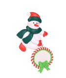 Christmas decoration plastic snowman. Royalty Free Stock Image