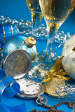 Christmas decoration and Pocket Watches Stock Photo