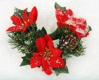 Christmas decoration with Poinsettia Royalty Free Stock Image