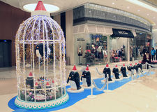 Christmas decoration in Popcorn shopping mall Stock Images