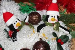 Christmas decoration for postcards or tags marry cristmas. And happy new year Royalty Free Stock Image