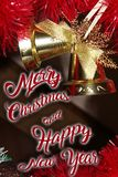 Christmas decoration for postcards or tags marry cristmas. And happy new year Stock Photography
