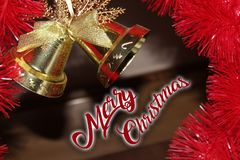 Christmas decoration for postcards or tags marry cristmas. And happy new year Stock Photo