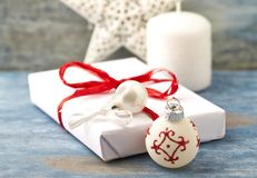 Christmas decoration and Christmas present royalty free stock photo