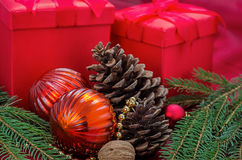 Christmas decoration with presents Royalty Free Stock Photography