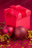 Christmas decoration with presents Royalty Free Stock Image