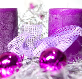 Christmas decoration in purple Royalty Free Stock Image