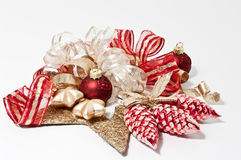 Christmas decoration in red. White and gold Royalty Free Stock Image