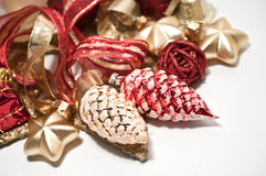 Christmas decoration in red Royalty Free Stock Image