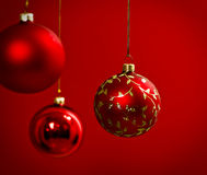 Christmas decoration in red Stock Image