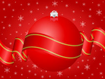 Christmas decoration red Stock Images
