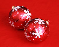 Christmas decoration on a red background Stock Photography