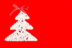 Christmas decoration on red background Stock Photography