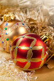 Christmas decoration red ball Royalty Free Stock Photo