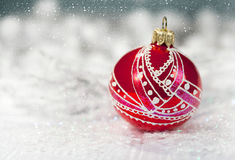 Christmas decoration red ball Stock Photo