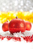 Christmas decoration - red balls Royalty Free Stock Image