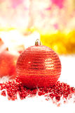 Christmas decoration - red bauble Stock Image