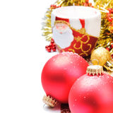 Christmas decoration with red baubles Stock Image