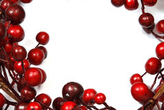Christmas decoration from red berries Stock Images
