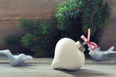 Christmas decoration with red bow Stock Image