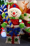 Christmas decoration. The red christmas doll for decoration Royalty Free Stock Image