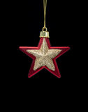 Christmas decoration red with gold star Stock Image