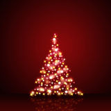 Christmas decoration in red and gold stars Royalty Free Stock Photos