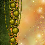 Christmas decoration in red and gold stripes Stock Photo