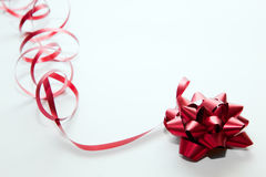 Christmas decoration, red ribbon Royalty Free Stock Photos
