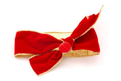 christmas decoration red ribbon Royaltyfri Foto