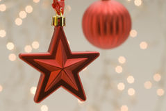 Christmas decoration. Red star. Royalty Free Stock Image