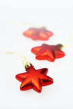 Christmas decoration red stars Stock Image