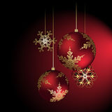 Christmas decoration in red - vector illustration Royalty Free Stock Photos