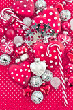 Christmas decoration in red and white Stock Image